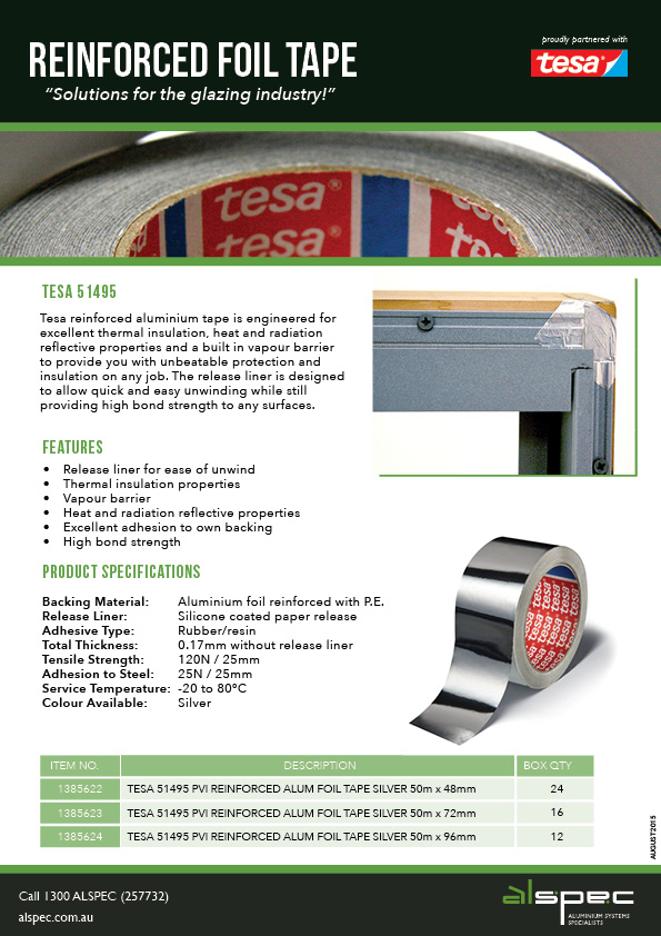 Reinforced Foil Tape - Solutions for the Glazing Industry