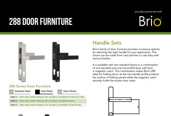 Brio 288 Door Furniture