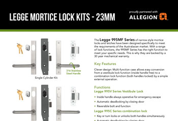 Legge Mortice Lock Kits - 23mm