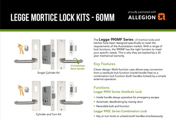 Legge Mortice Lock Kits - 60mm
