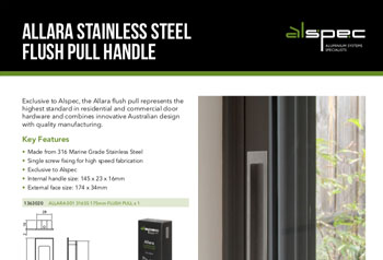 Allara 316 Stainless Steel Flush Pull Handle