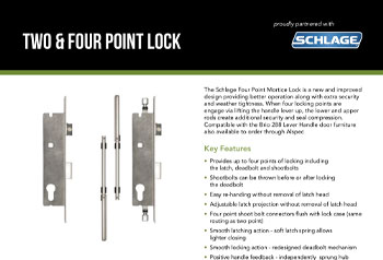 Schlage Two & Four Point Lock