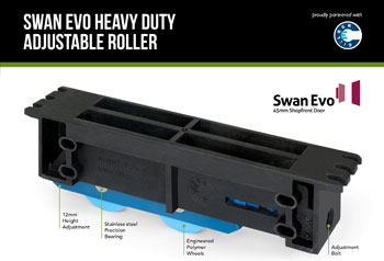 Swan Evo Heavy Duty Adjustable Roller