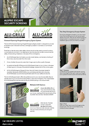 Alu-Grille® Escape